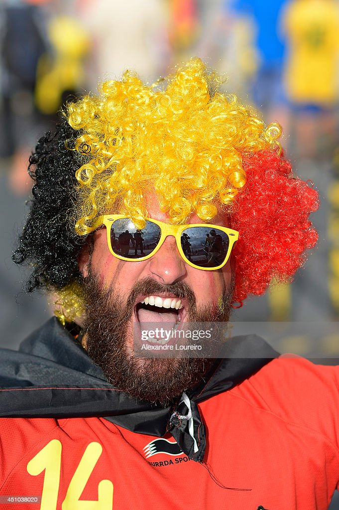Fans arrive before the Group H match between Belgium and Russia during the 2014 FIFA World Cup at Maracana Stadium at Maracana on June 22, 2014 in Rio de Janeiro, Brazil.