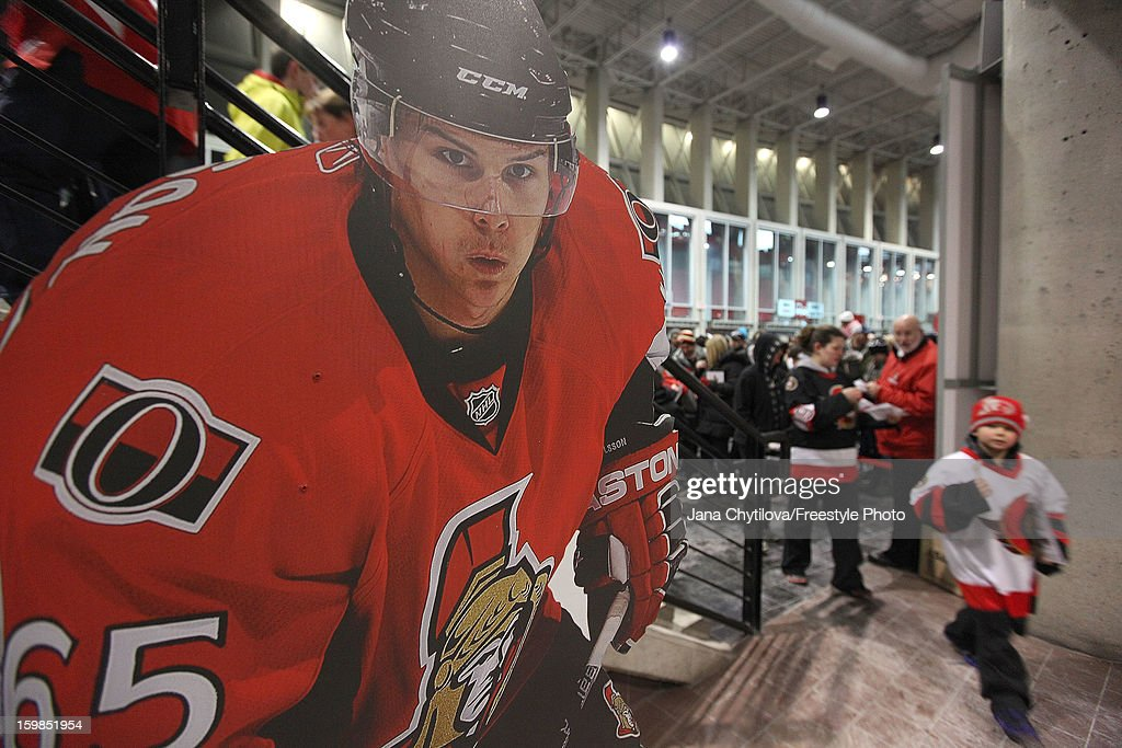 Fans arrive before the start of the NHL home opener between the Florida Panthers and the Ottawa Senators at Scotiabank Place on January 21, 2013 in Ottawa, Ontario, Canada.