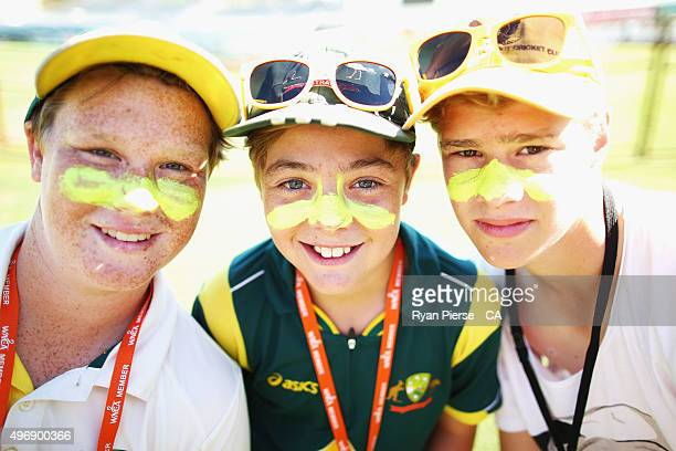 Fans arrive during day one of the second Test match between Australia and New Zealand at WACA on November 13 2015 in Perth Australia