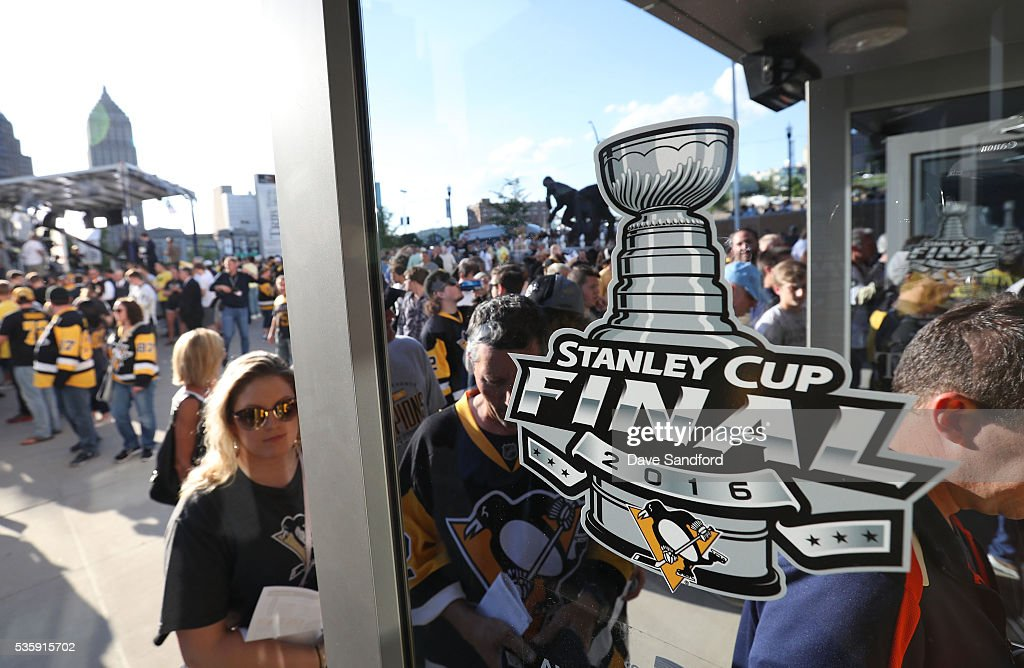 Fans arrive for Game One of the 2016 NHL Stanley Cup Final at Consol Energy Center between the San Jose Sharks and the Pittsburgh Penguins on May 30, 2016 in Pittsburgh, Pennsylvania.