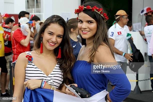 Fans arrive for the Group E match between Switzerland and France during the 2014 FIFA World Cup Brazil at Arena Fonte Nova on June 20 2014 in...