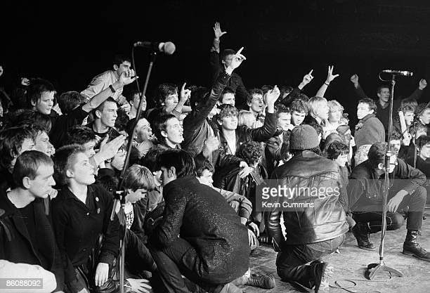 Fans at a concert by British punk group The Clash at The Manchester Apollo 3rd February 1980