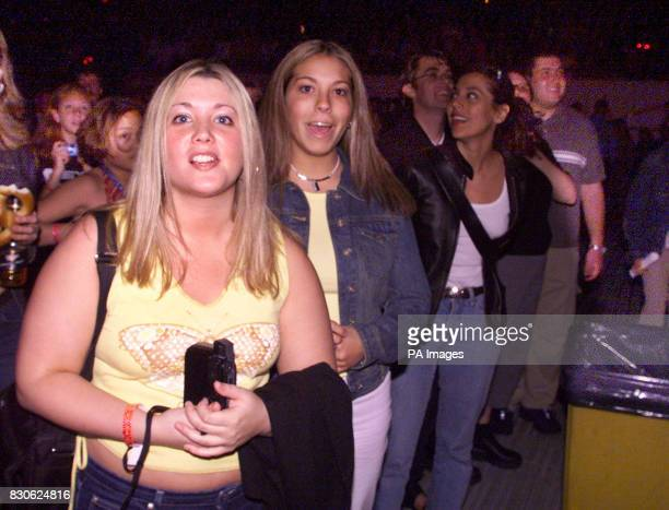 Fans at Nsync in concert at Giants Stadium in East Rutherford New Jersey