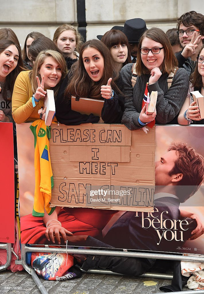 Fans at the European Premiere of 'Me Before You' at The Curzon Mayfair on May 25, 2016 in London, England.