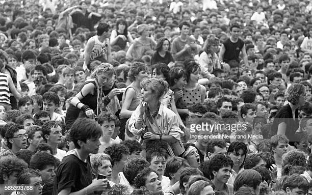 Fans at the Simple Minds concert in Croke Park circa June 1986