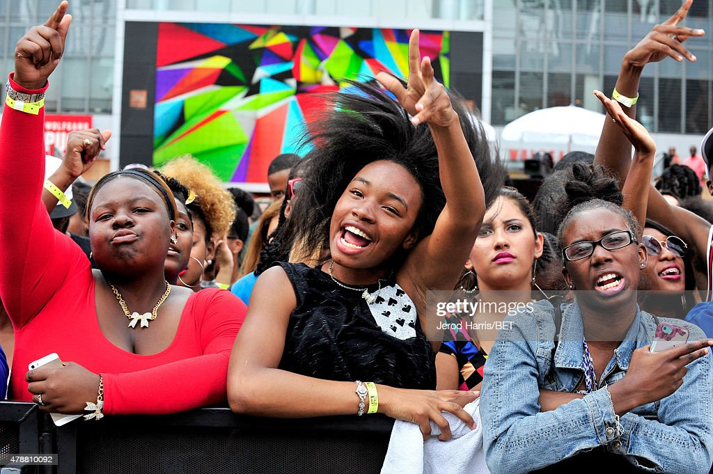 Fans attend 106 Park presented by Coke during the 2015 BET Experience at Nokia Plaza on June 27 2015 in Los Angeles California
