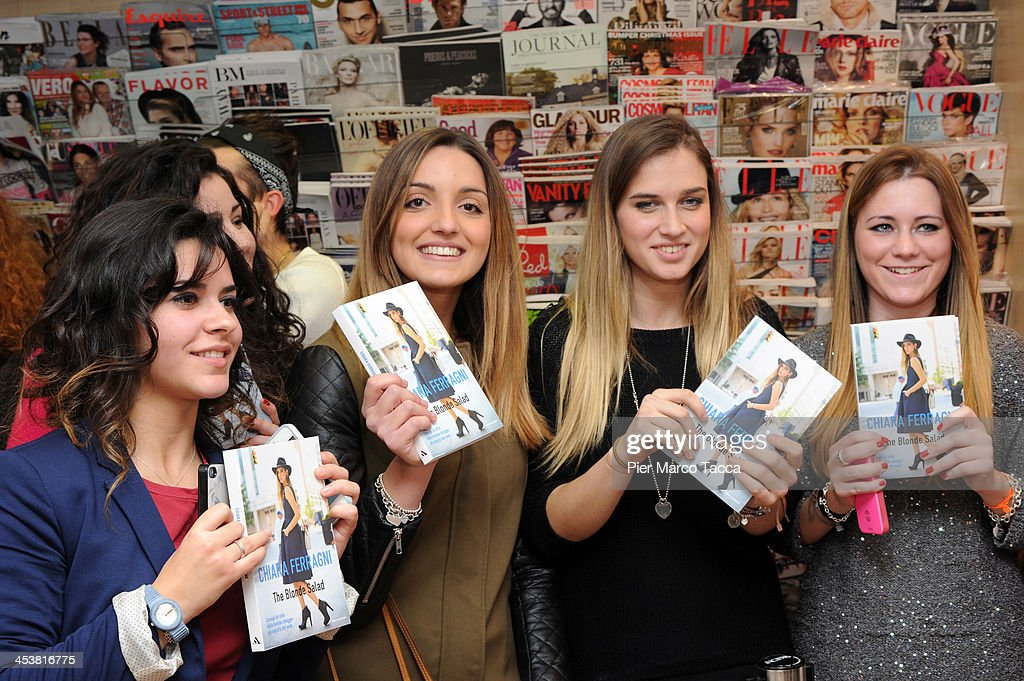 Fans attend a book signing session by Chiara Ferragni for 'The Blonde Salad' at Mondadori on December 5, 2013 in Milan, Italy.