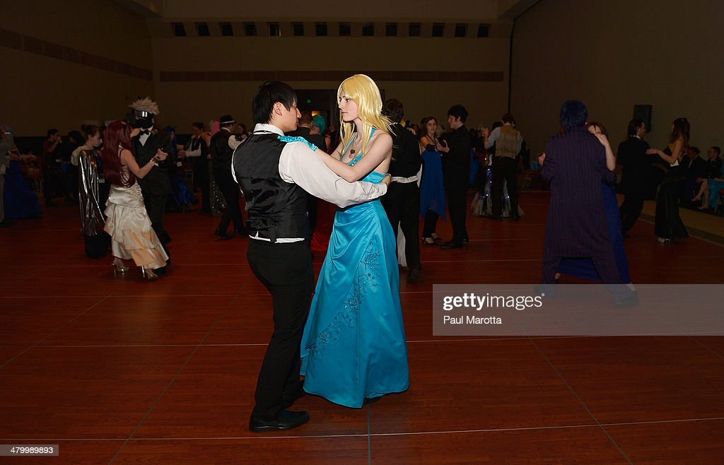 Fans attend a Charity Ball at the Anime Boston 2014 Convention at Hynes Convention Center attended by more than 22,000 fans on March 21, 2014 in Boston, Massachusetts.