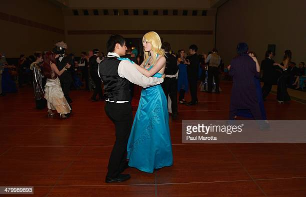 Fans attend a Charity Ball at the Anime Boston 2014 Convention at Hynes Convention Center attended by more than 22000 fans on March 21 2014 in Boston...