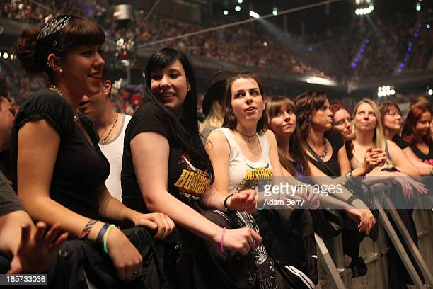 Fans attend a The BossHoss concert in Max Schmeling Halle on October 24 2013 in Berlin Germany