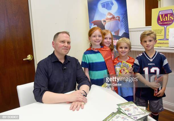 Fans attend attend the Captain Underpants Book Signing with Dav Pilkey during the Greenwich International Film Festival Day 1 on June 1 2017 in...