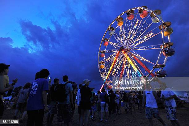 Fans attend Bonnaroo 2009 on June 11 2009 in Manchester Tennessee