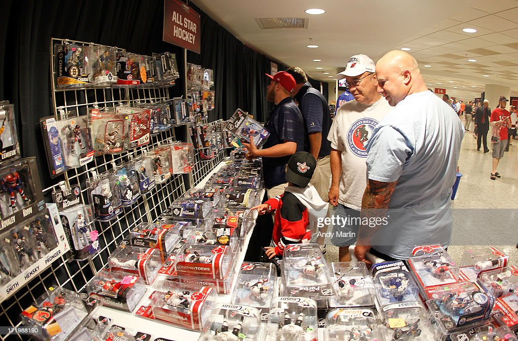 Fans attend the 2013 NHL Draft - Fan Fest and Memorabilia Show at Prudential Center on June 30, 2013 in Newark, New Jersey.
