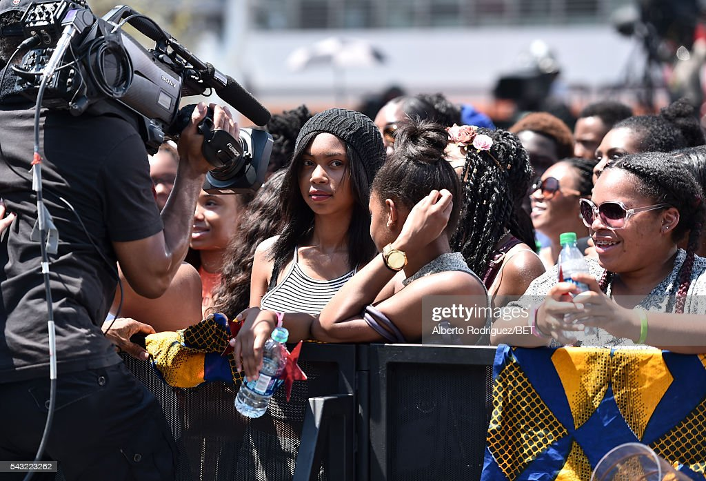 Fans attend the 2016 BET Awards at the Microsoft Theater on June 26, 2016 in Los Angeles, California.