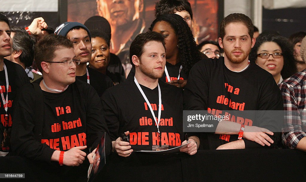 Fans attend the 'A Good Day To Die Hard' Fan Celebration at AMC Empire on February 13, 2013 in New York City.
