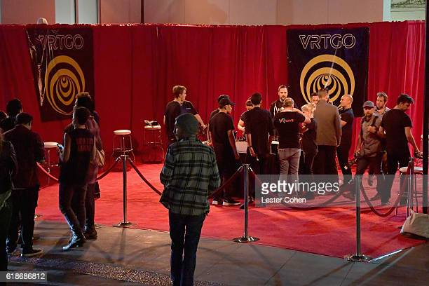 Fans attend the Avenged Sevenfold Groundbreaking Global VR Event Live at Iconic Capitol Records Building Band SurpriseReleased New Album The Stage...