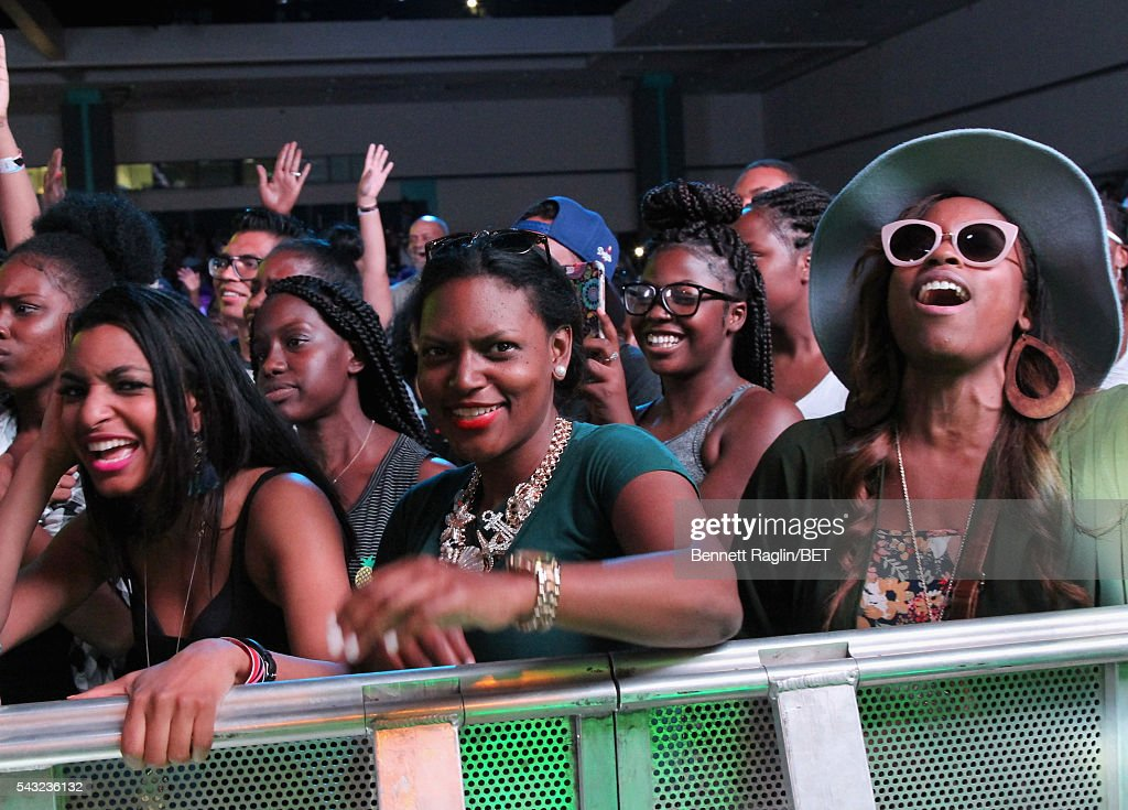 Fans attend the BETX stage during the 2016 BET Experience on June 26, 2016 in Los Angeles, California.