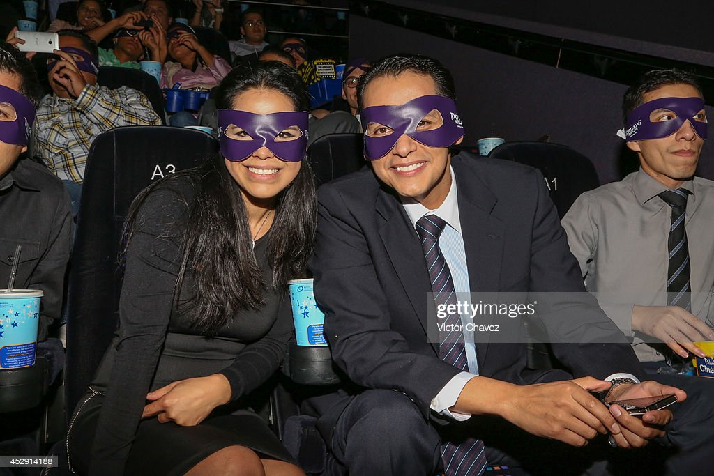 Fans attend the Latin American Premiere of Paramount Pictures' 'Teenage Mutant Ninja Turtles' at Cinepolis Acoxpa, on July 29, 2014 in Mexico City, Mexico.