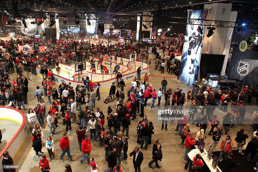 Fans attend the NHL Fan Fair part of 2011 NHL All-Star Weekend at the Raleigh Convention Center on January 28, 2011 in Raleigh, North Carolina.