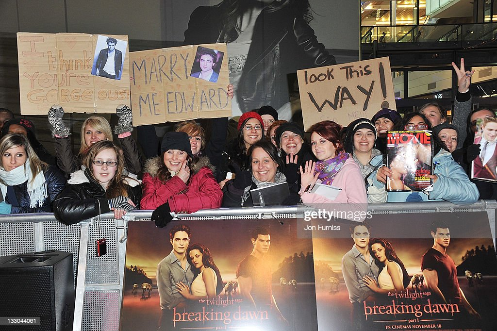 Fans attend 'The Twilight Saga: Breaking Dawn Part 1' UK Premiere, at Westfield Stratford City on November 16, 2011 in London, England.