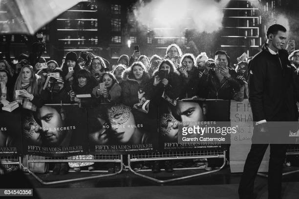 Fans attend the UK premiere of 'Fifty Shades Darker' at Odeon Leicester Square on February 9 2017 in London England