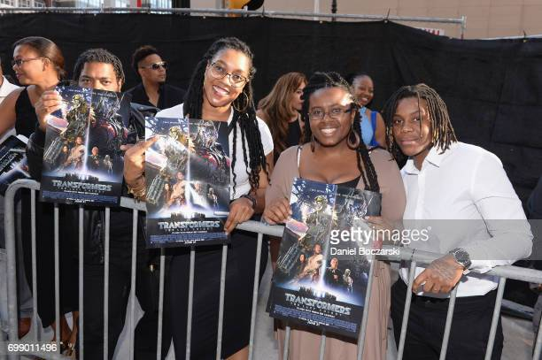 Fans attend the US premiere of 'Transformers The Last Knight' at the Civic Opera House on June 20 2017 in Chicago Illinois