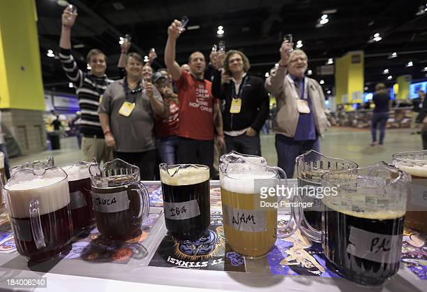 Fans await the official opening and prepare to taste beer from Dogfish Head Craft Brewery of Milton Delaware at the 32nd annual Great American Beer...