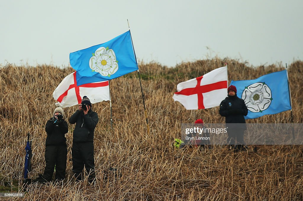 Fans await the peloton on stage three of the 2016 Tour de Yorkshire from Middlesbrough to Scarborough on May 1, 2016 in Scarborough, England.