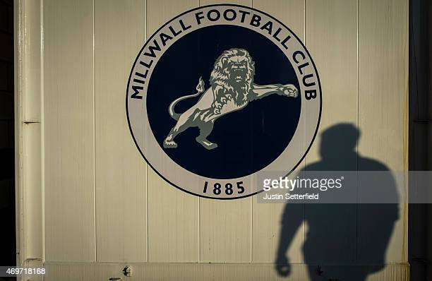 Fans begin arriving at the Den ahead of the Sky Bet Championship match between Millwall and Wigan Athletic at The Den on April 14 2015 in London...