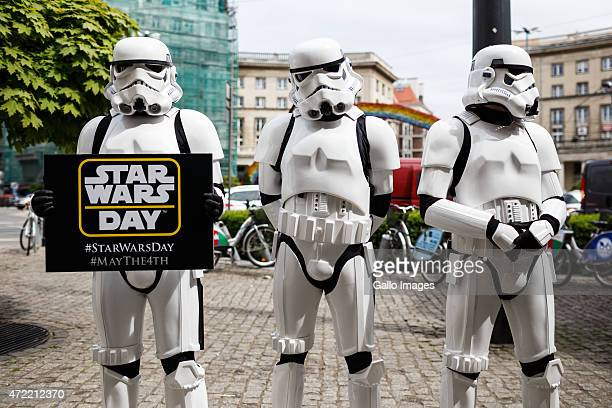 Fans celebrate Star Wars day on May 04 2015 in Warsaw Poland May the Force be with You sounds like May the 4th be with You making May 4 the...