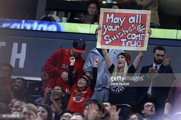 TORONTO ON JANUARY 5 Fans cheer as the Toronto Raptors beat the Utah Jazz 10193 at Air Canada Centre in Toronto January 5 2017