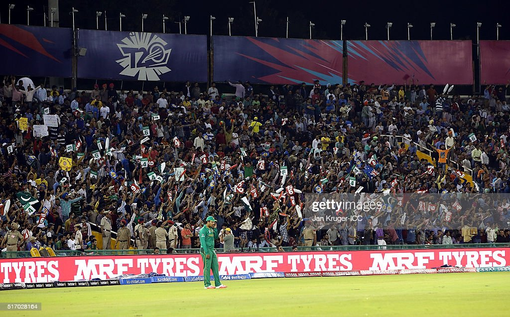 Fans cheer during the ICC World Twenty20 India 2016 Super 10s Group 2 ...