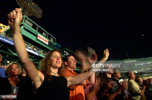 Fans cheer for Bruce Springsteen at Fenway Park in Boston on Sep 6 2003