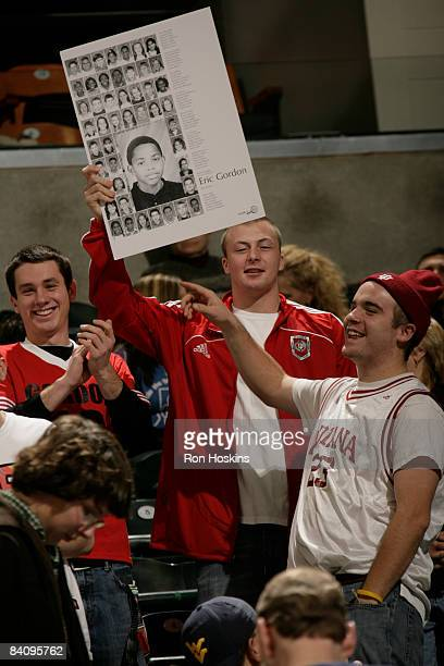 Fans cheer for Eric Gordon of the LA Clippers before the game between the Clippers and the Indiana Pacers at Conseco Fieldhouse on December 19 2008...