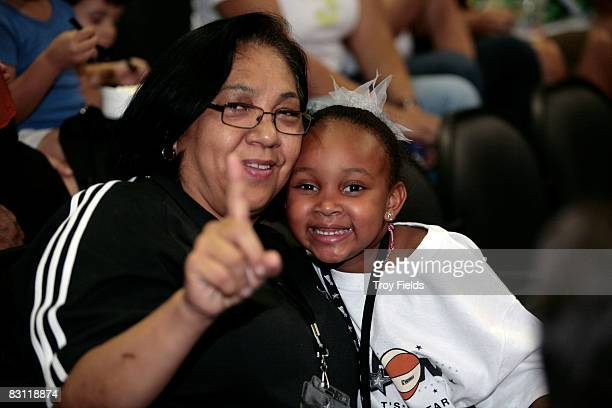 Fans cheer for the San Antonio Silver Stars prior to Game Two of the WNBA Finals between the Detroit Shock and San Antonio Silver Stars on October 3...