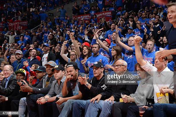 Fans cheer in Game Six of the Western Conference Semifinals between the Los Angeles Clippers and the Houston Rockets during the 2015 NBA Playoffs on...