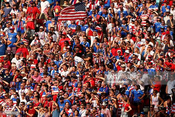 Fans cheer in the second half between the United States and Japan in the FIFA Women's World Cup Canada 2015 Final at BC Place Stadium on July 5 2015...