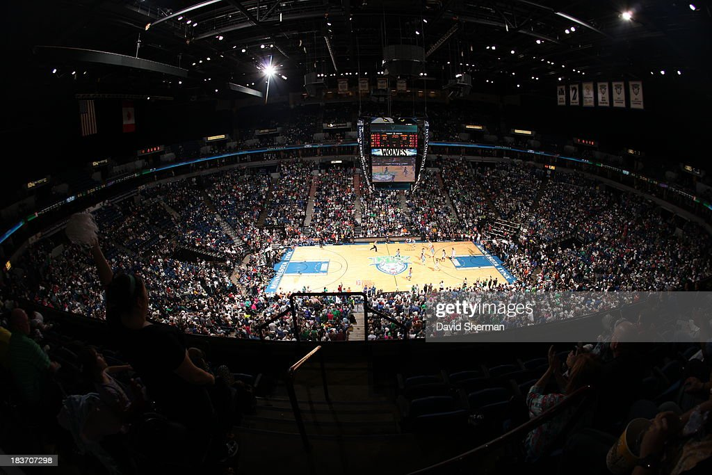 Fans cheer near the end of Game 2 of the 2013 WNBA Finals on October 8, 2013 at Target Center in Minneapolis, Minnesota.
