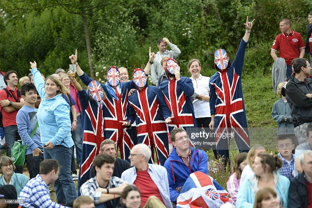 Fans cheer on Helen Glover and Heather Stanning of Great Britain in the Women's Pair Final A on the BA Stage at Park Live presented by British Airways today on day 5 of the London 2012 XXX Olympic Games on August 1, 2012 in London, United Kingdon. The dedicated area for fans expects up to 10,000 daily visitors who can watch live action on the giant LED screens and see the athletes interviewed on the BA Stage.