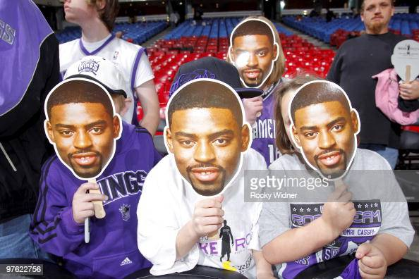 Fans come out the celebrate Tyreke Evans of the Sacramento Kings for Rookie of the Year on March 10 2010 at ARCO Arena in Sacramento California NOTE...