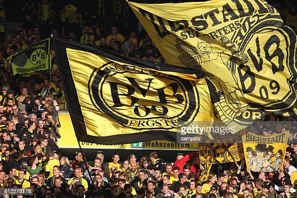 Fans des BVB Dortmund Fussball 1 Bundesliga VFB Stuttgart Borussia Dortmund 11 Saison 2011 / 2012