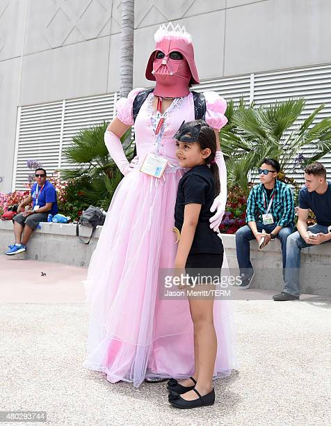 Fans dressed in cosplay attend ComicCon International 2015 on July 10 2015 in San Diego California