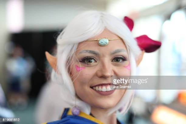 Fans dressed in cosplay attend the 2017 ComicCon International on July 20 2017 in San Diego California