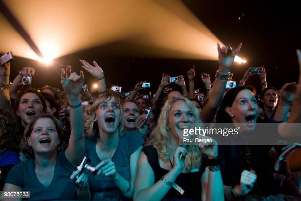 Fans during a concert of boyband Backstreet Boys at Ahoy on November 15 2009 in Rotterdam Netherlands