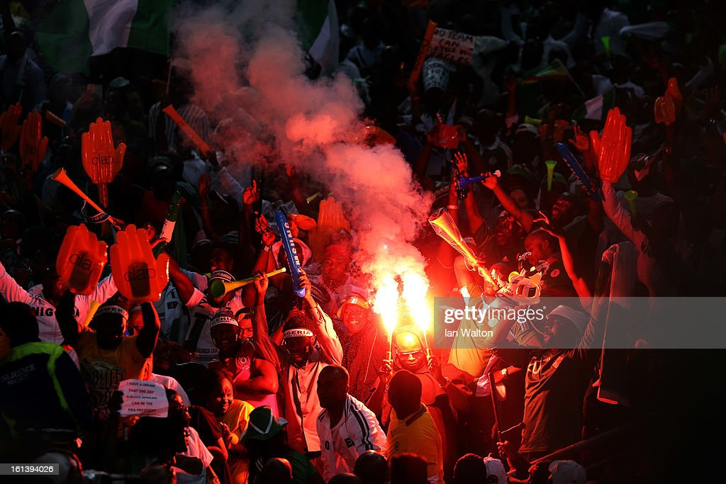 Fans during the 2013 Africa Cup of Nations Final match between Nigeria and Burkina at FNB Stadium on February 10, 2013 in Johannesburg, South Africa.
