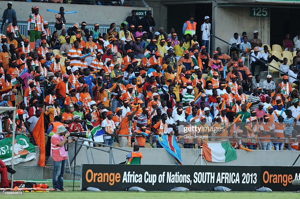 Fans during the 2013 Orange African Cup of Nations match between Ivory Coast and Togo from Royal Bafokeng Stadium on January 22, 2012 in Rustenburg,South Africa.