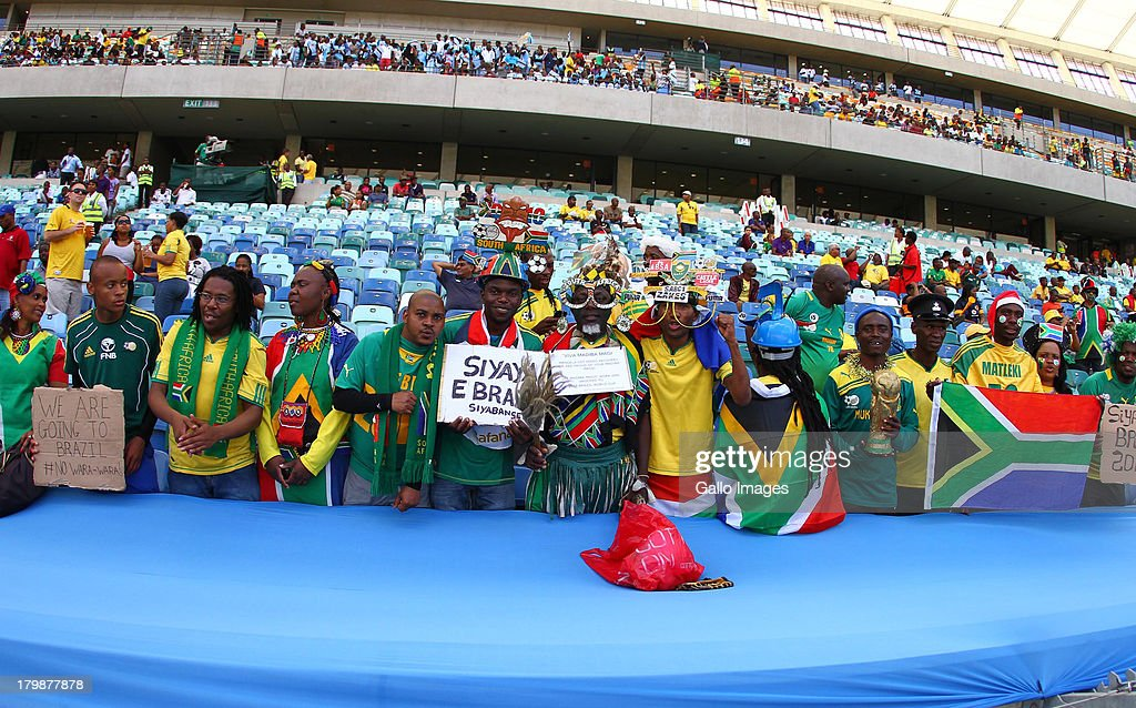 Fans during the 2014 FIFA World Cup Qualifier match between South Africa and Botswana from Moses Mabhida Stadium on September 07, 2013 in Durban, South Africa.