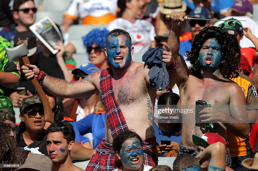 Fans during the 2016 Auckland Nines at Eden Park on February 7, 2016 in Auckland, New Zealand.