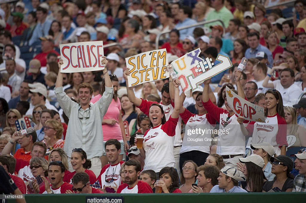 Fans during the 51st Annual Roll Call Congressional Baseball Game held at Nationals Stadium, June 28, 2012.
