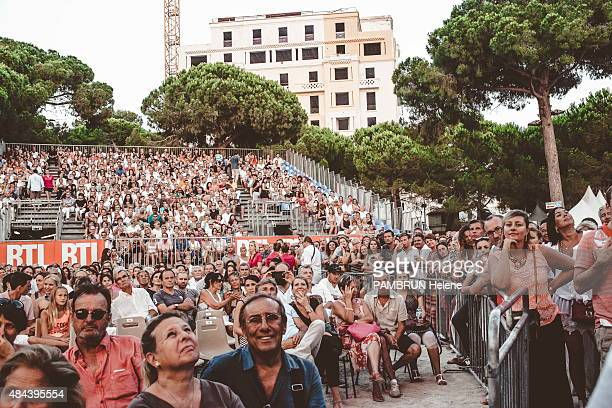 Fans during the 55th Jazz Festival of JuanLesPins